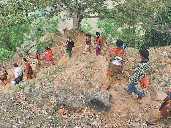 drinking water shortage hits remote dhading village national  drinking water shortage hits remote dhading village