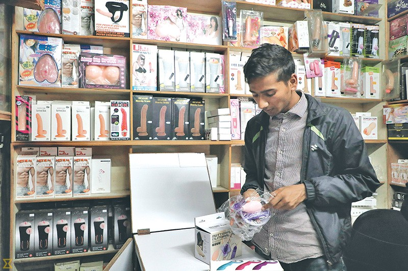 The Kantipur Condom House at the Purano Bus Park does big business in adult  toys, both through its physical store and online. sanjog manandhar