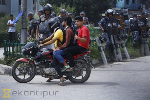 Traffic rules violations rampant during strike (In pics)