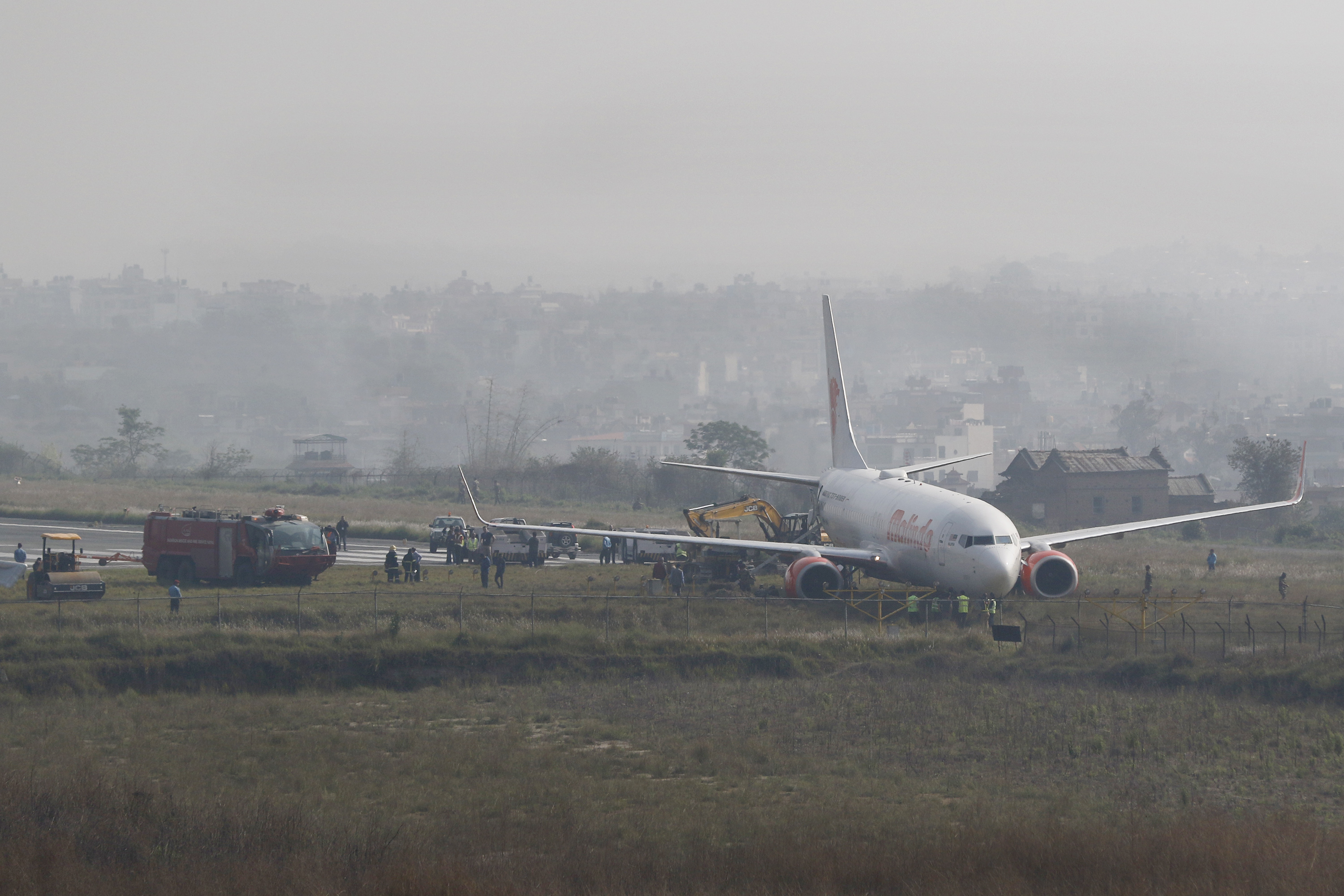 Malindo Airlines plane skids off runway in Nepal