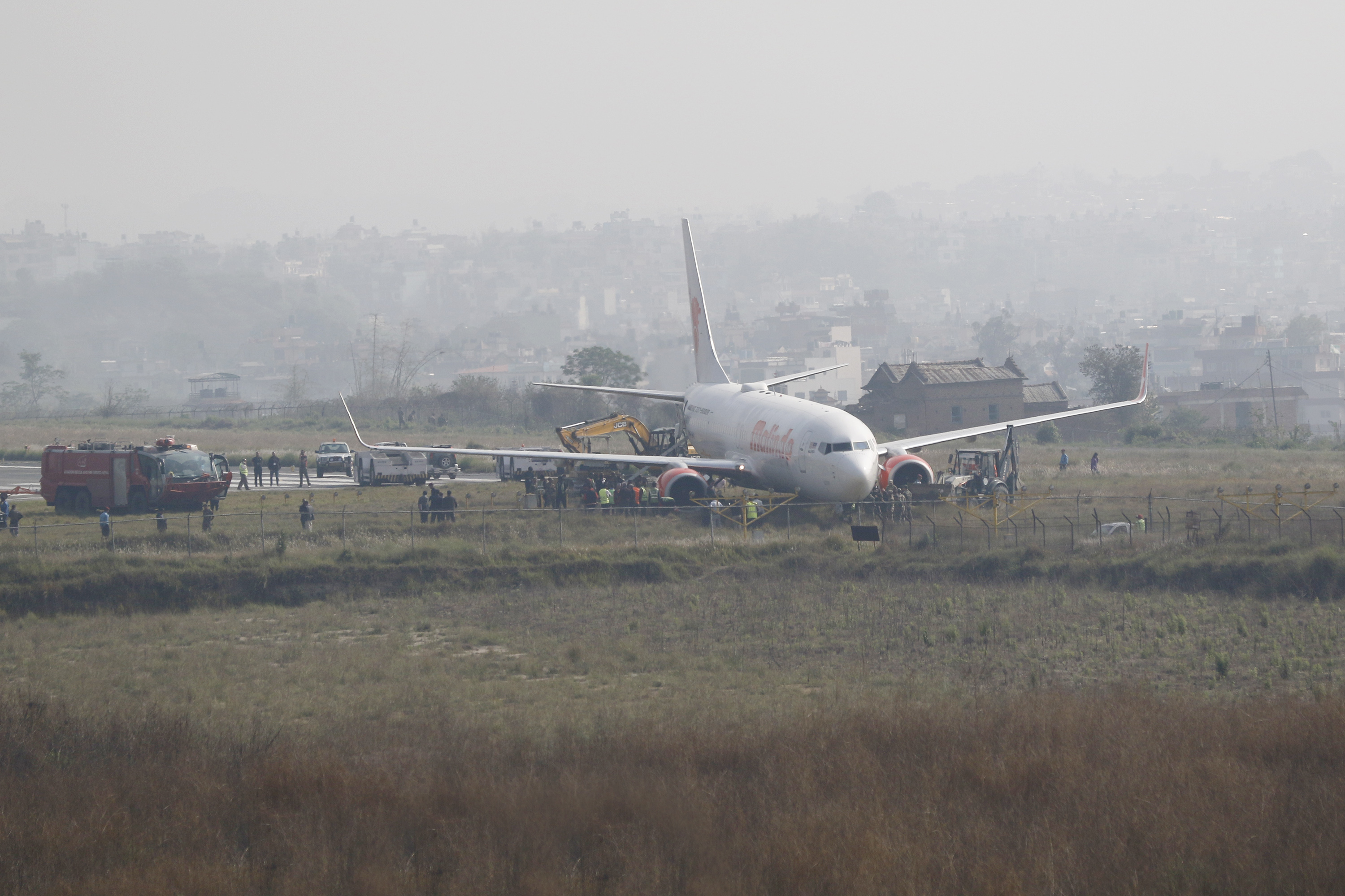 Nepal's Tribhuvan International Airport closed after Malindo Air jet skids off runway