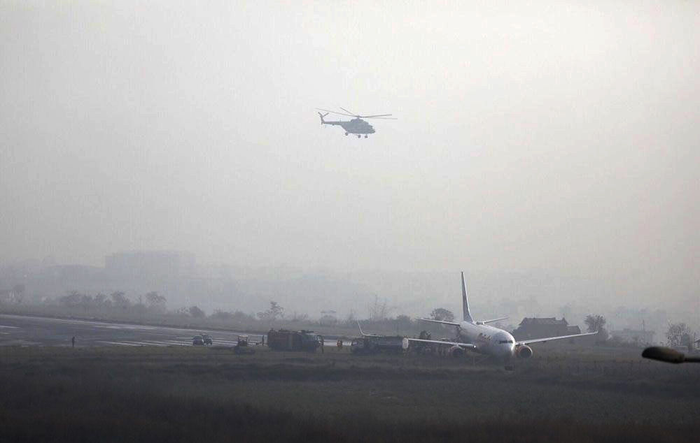 Plane skids off runway, shutting down Nepal's airport