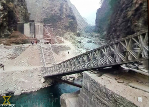 Under construction Bailey bridge over Bhotekoshi River collapses