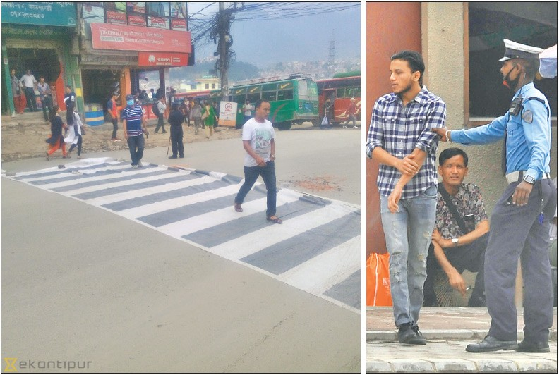 Action against jaywalking: Pedestrians cry foul as traffic cops act tough