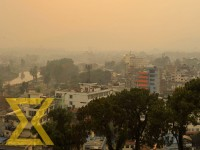 A view of the Kathmandu Valley shrouded with smog on Friday.