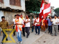 Nepali Congress candidates take part in a victory rally at Kathmandu Metropolitan City ward-19 in Kageshwori of the Capital on Tuesday.