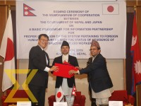 Nepal and Japan sign a Memorandum of Cooperation (MoC) to send Nepali workers to Japan in a function organised in Kathmandu on Monday.