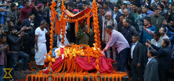 Pushpa Kamal Dahal's son Prakash cremated at Pashupati Aryaghat [In Photos]
