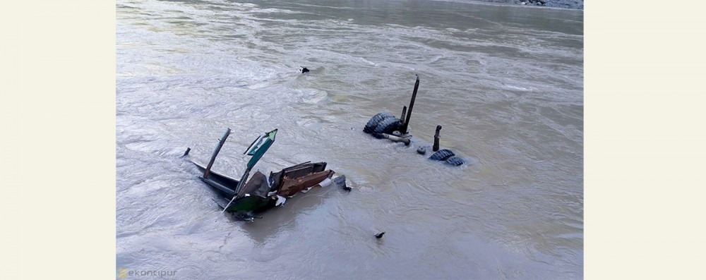 Image result for truck accident in blind trishuli river