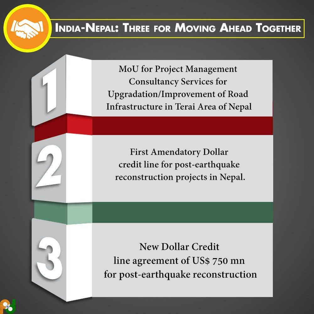 Three Agreements Signed Between Nepal India National