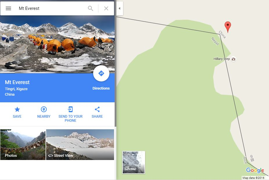 Google says mt everest lies in china general the kathmandu post gumiabroncs Image collections