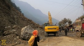 Contractors of Narayangadh-Muglin road project fined Rs 7.5million for delay