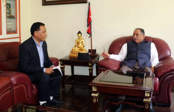 Dahal urges NEA Chief Ghising to end power outage in Far-Western Region