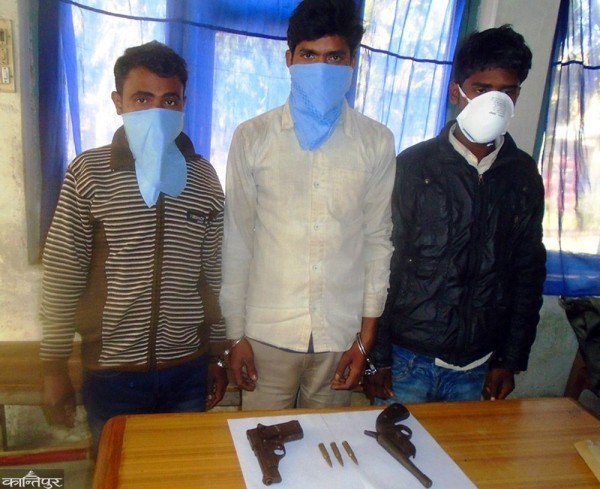 3 Indian men held with firearms