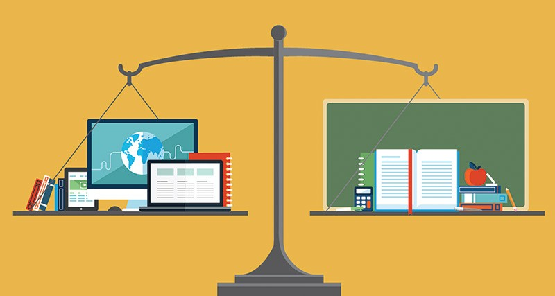 tradional vs online schooling Online universities and traditional colleges that offer courses in physical  classrooms have the same end goal: provide students with an educational  experience.