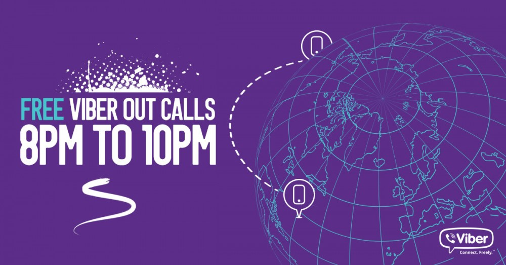 Viber offers free calls to any numbers in 52 countries