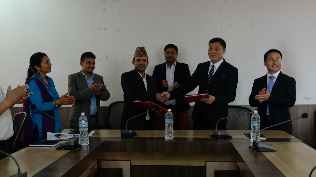 The Kathmandu Post-Chinese firm signs contract to build dry