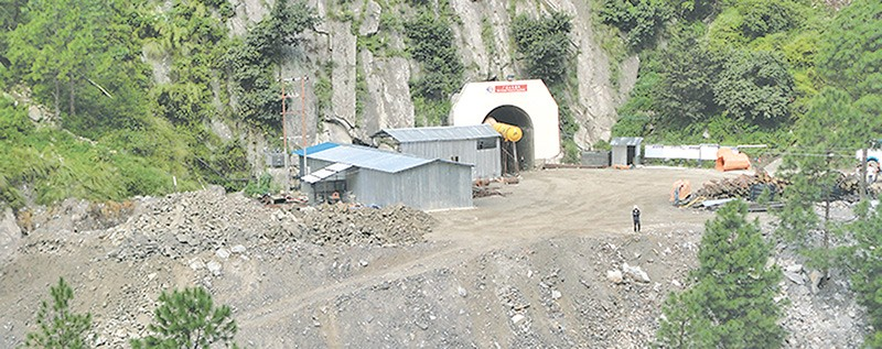 The chinese contractor has completed 40 percent of construction work at the 111 MW hydro project