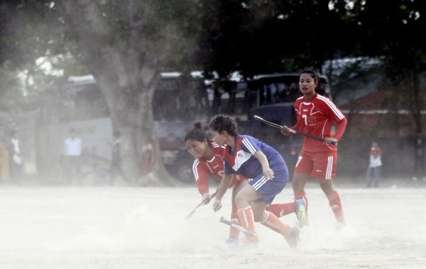 Nepal has a hockey team. But it doesn't have a single hockey field.
