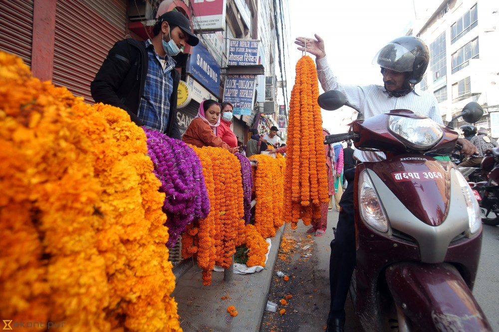 e1b0421376e Marigold sale booms in Kathmandu (In photos) - Visual Story - The ...
