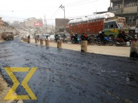 A road section of Dhunge Adda is seen coated with asphalt in the capital on Wednesday.